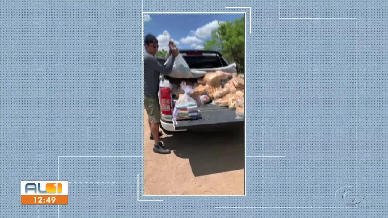 Projeto arrecada alimentos para ajudar famílias no interior de Alagoas