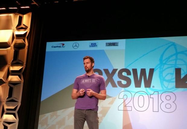 Miguel McKelvey, cofundador do WeWork, durante o SXSW 2018 (Foto: Elisa Campos)