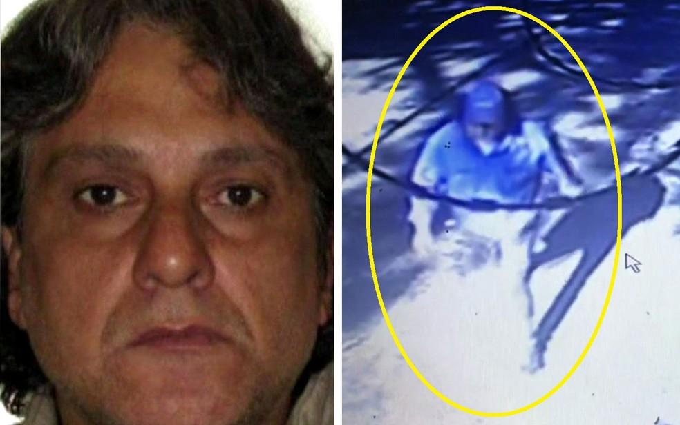 Paulo Cupertino Matias é procurado pelas mortes da família de Rafael Miguel — Foto: GloboNews/Reprodução