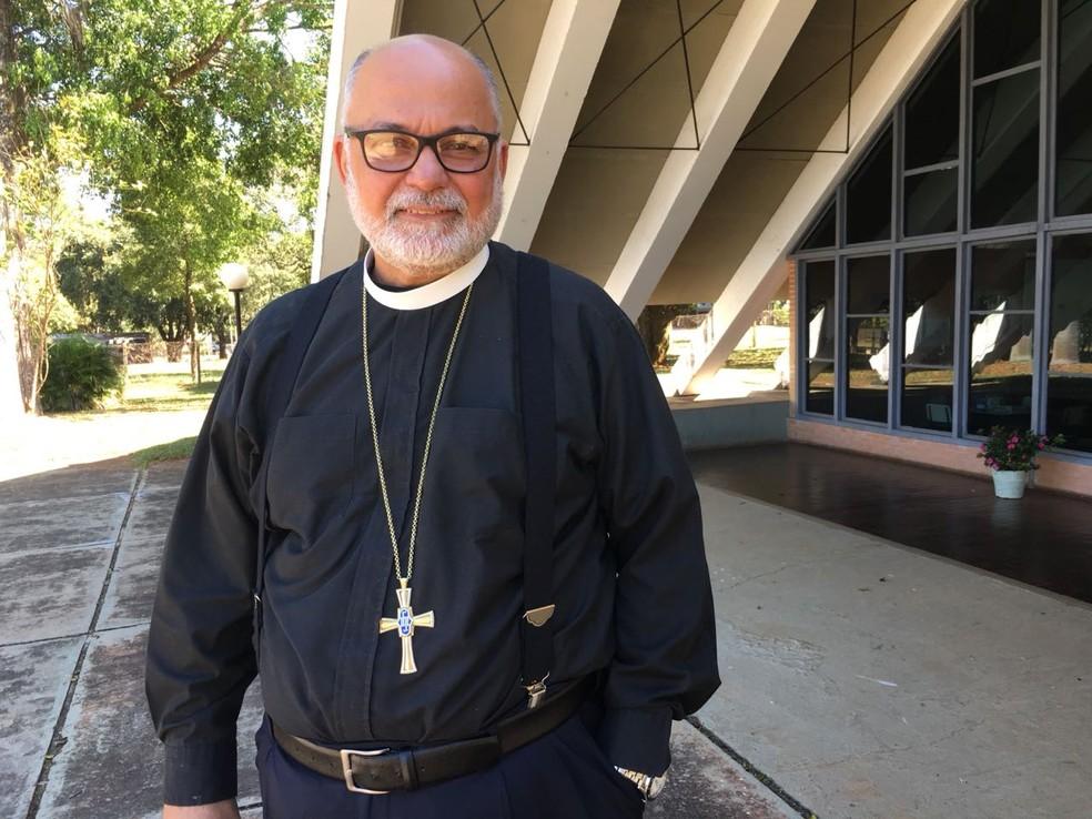 Bispo da Igreja anglicana em Brasília, Maurício Andrade (Foto: Gabriel Luiz/G1)