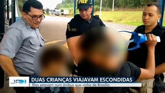 Crianças que viajavam escondidas são descobertas após pane mecânica em ônibus, diz PRF