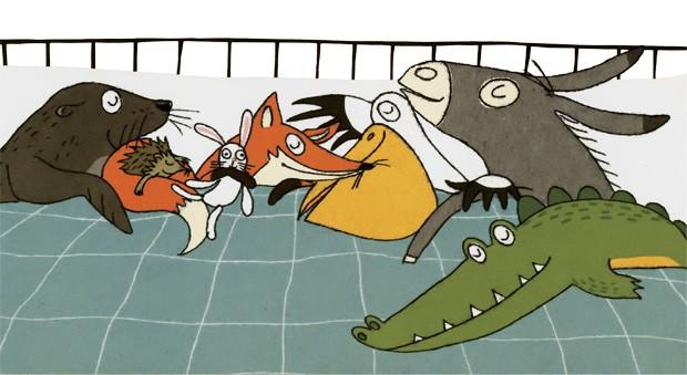 Texto e ilustrações de Susanne Strasser, Editora Companhia das Letrinhas, R$ 34,90. A partir de 2 anos. (Foto: Reprodução)