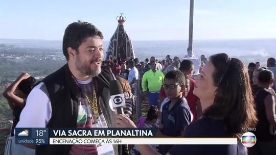 Hoje é dia de encenação da Via sacra no Morro da Capelinha, em Planaltina.