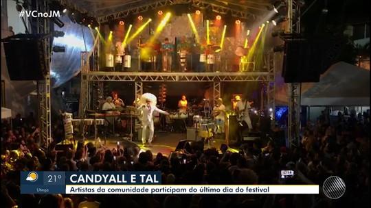 Artistas da comunidade participam do último dia do festival 'Candyall e Tal'