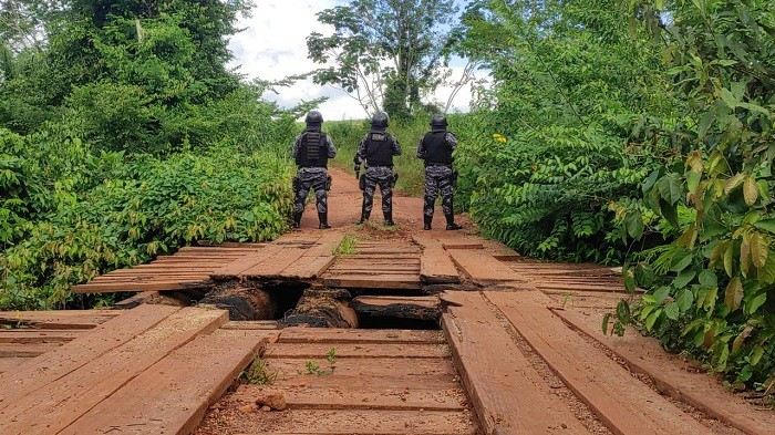 Polícia Militar de RO durante Operação de Patrulhamento Rural em Chupinguaia (Foto: Divulgação/PM-RO)