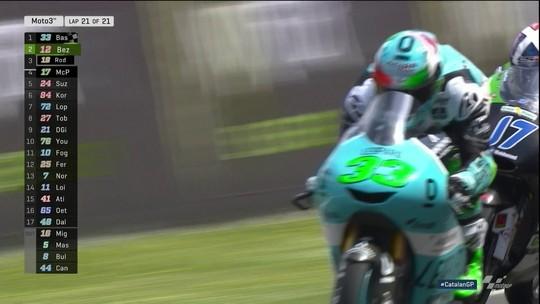Enea Bastianini vence na Moto 3, etapa da Catalunha, do Mundial de motovelocidade