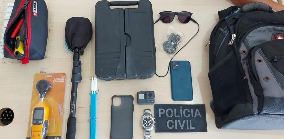 Polícia conseguiu recuperar parte dos itens roubados — Foto: Divulgação/Polícia Civil