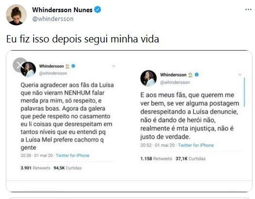 Whindersson desabafa na web (Foto:  Reprodução / Twitter)