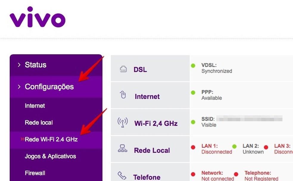 Acesse as configurações de Wi-Fi (Foto: Reprodução/Helito Bijora)