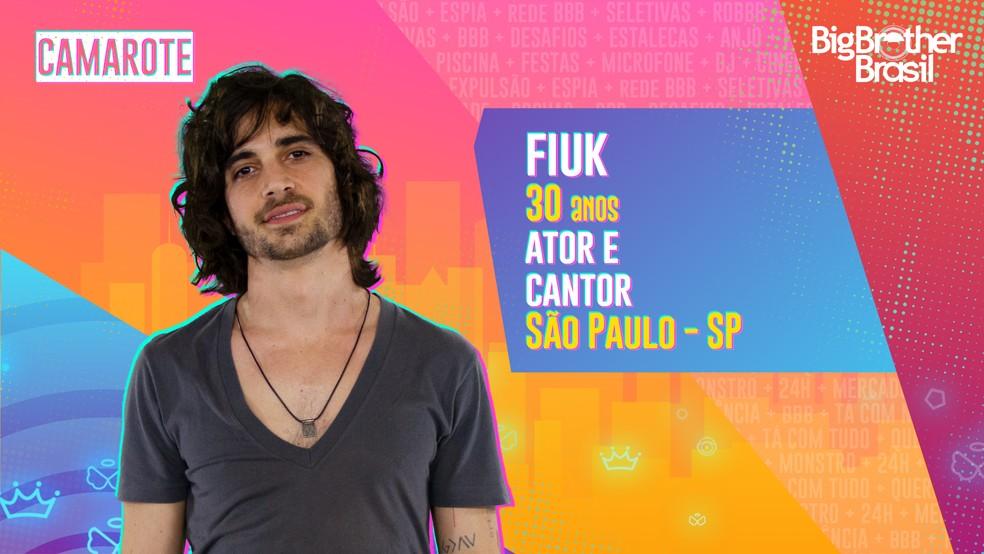 Fiuk é participante do 'BBB21' — Foto: Divulgação/Globo