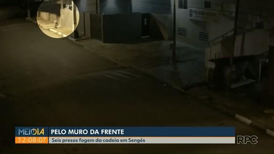Câmera de monitoramento registra fuga de presos da cadeia de Sengés; VÍDEO