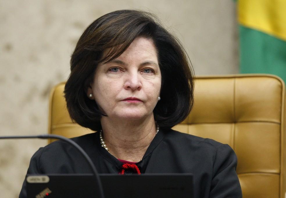 A procuradora-geral da República, Raquel Dodge, durante sessão do STF na quinta-feira (21) — Foto: Rosinei Coutinho/SCO/STF