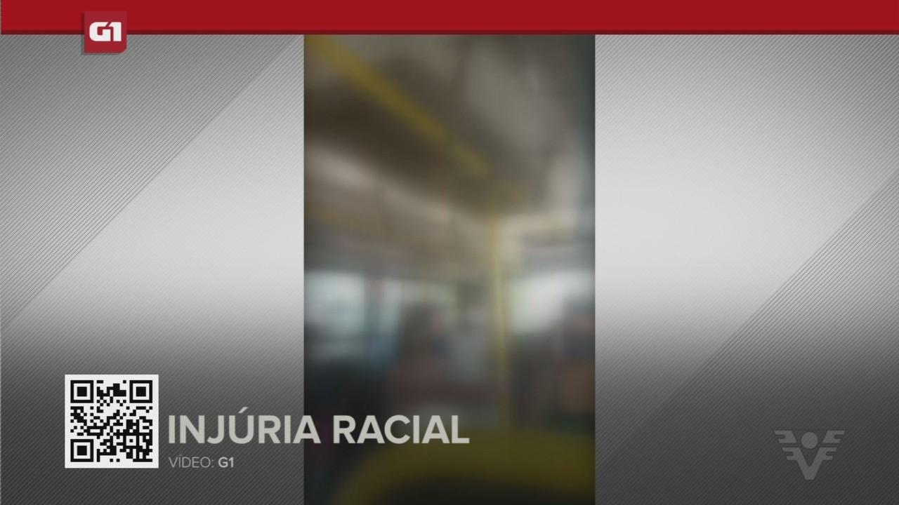 G1 em 1 Minuto - Santos: Mulher é presa por chamar rapaz de 'macaco fedorento' em ônibus