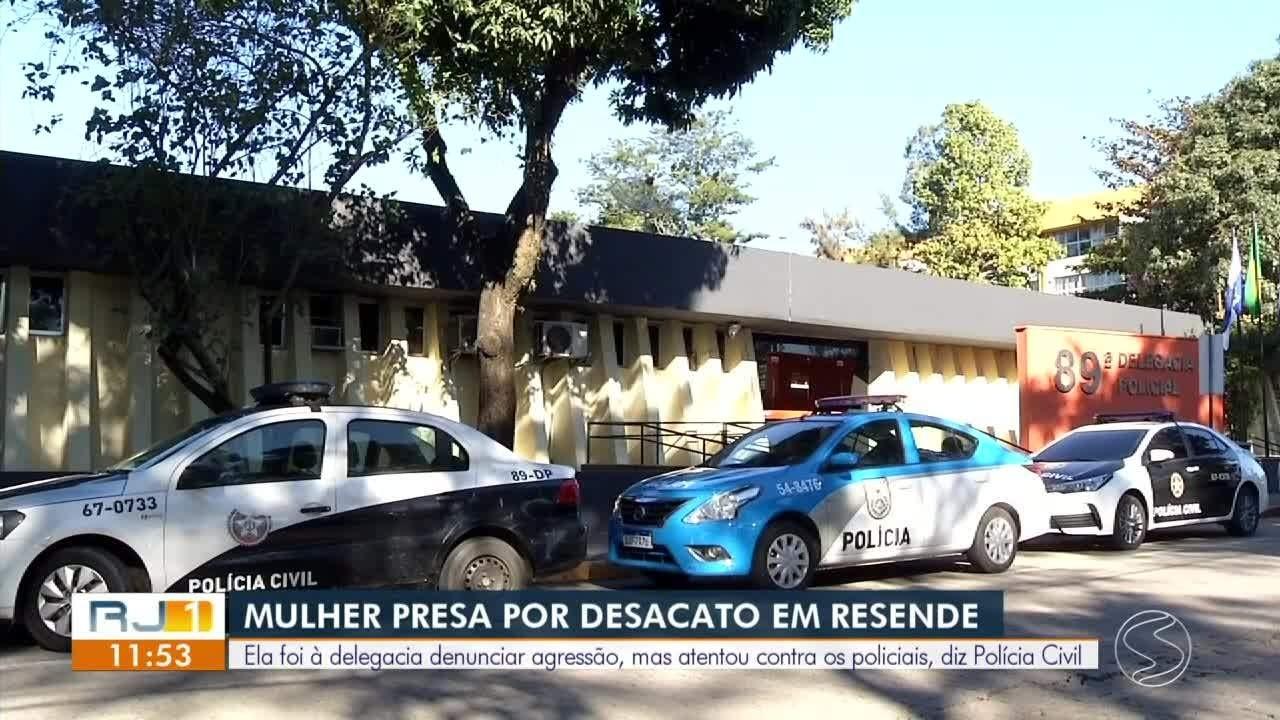 Mulher é presa por desacato ao ir à delegacia de Resende denunciar agressão do marido