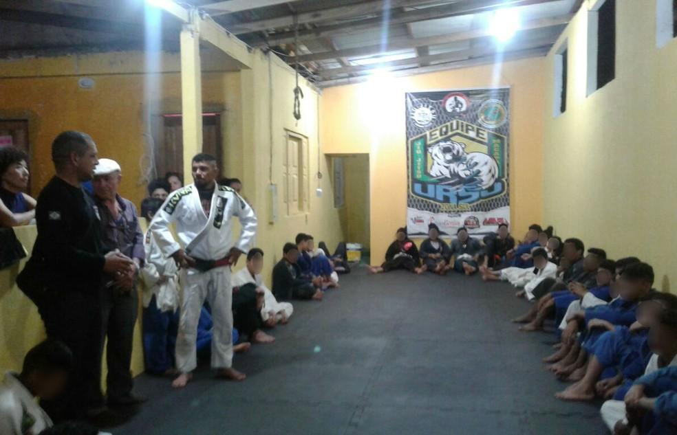 Projeto atende crianças para a prática de jiu-jitsu em Macapá (Foto: GTP/Divulgação)