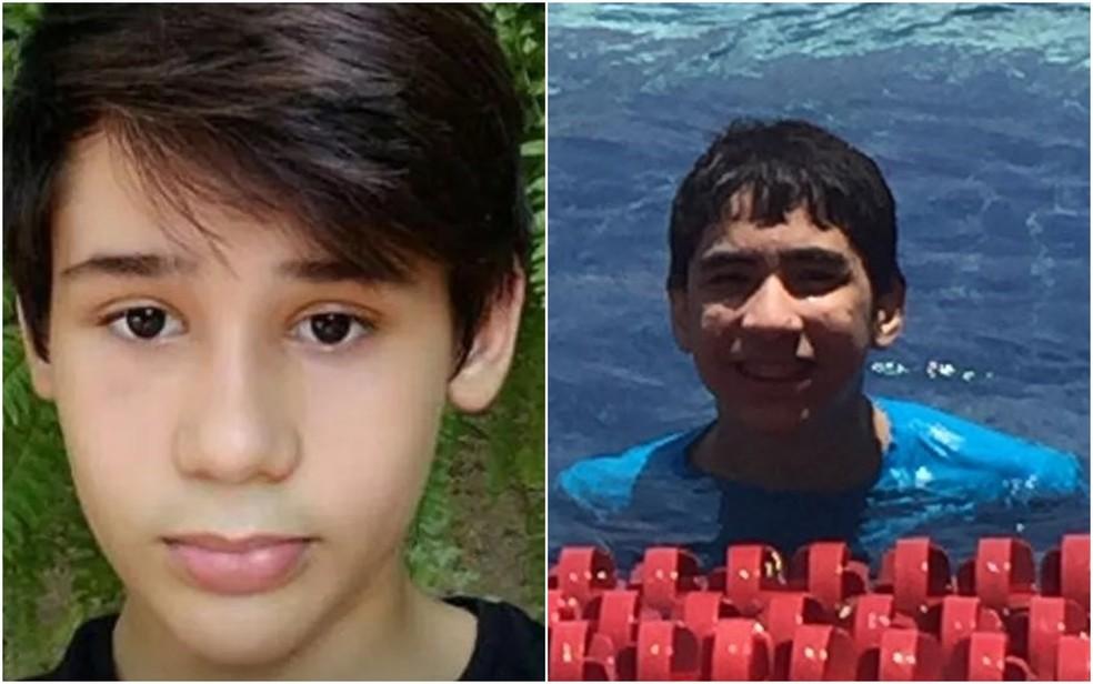 João Pedro Calembo (à esquerda) e João Vitor Gomes foram mortos a tiros durante ataque em escola colégio de Goiânia Goiás (Foto: Reprodução/TV Anhanguera)