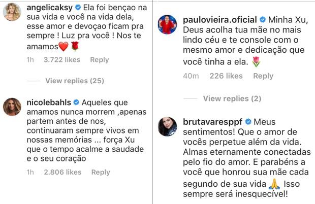 Famosos fazem homenagem para mãe de Xuxa (Foto: Reprodução/ Instagram)