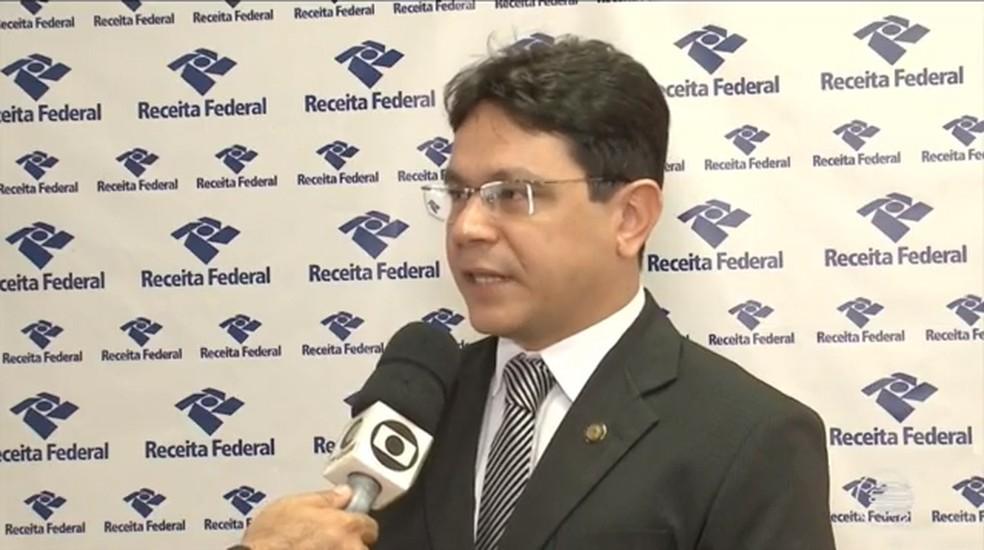 Delegado da Receita Federal explicou como funcionava a fraude — Foto: Reprodução/TV Clube