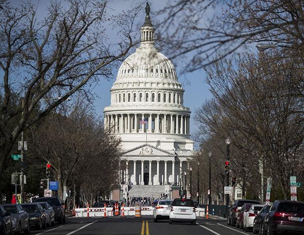 Capitol Hill, a sede do Senado norte-americano (Foto: Getty Images)
