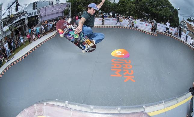 Pedro Barros treinando para o Oi Park Jam