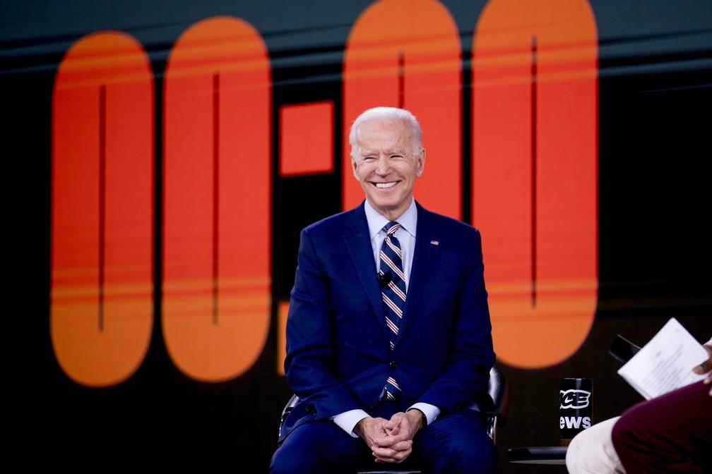 Pré-candidato democrata Joe Biden em evento no dia 20 de janeiro em Des Moines, Iowa. — Foto: Andrew Harnik/AP
