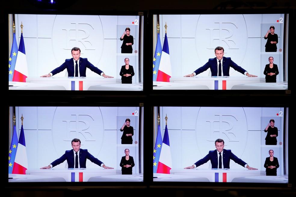 Macron anuncia toque de recolher nas maiores cidades franceses para conter 2ª onda do coronavírus. — Foto: Reuters/Benoit Tessier