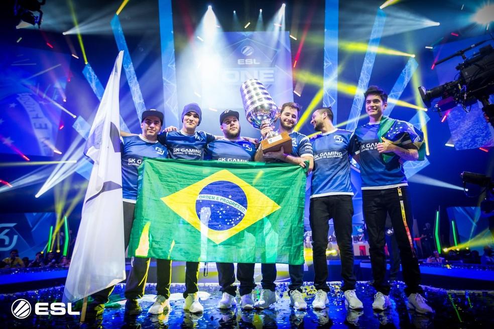 A equipe de FalleN foi vencedora de dois Majors  — Foto: Divulgação/ESL