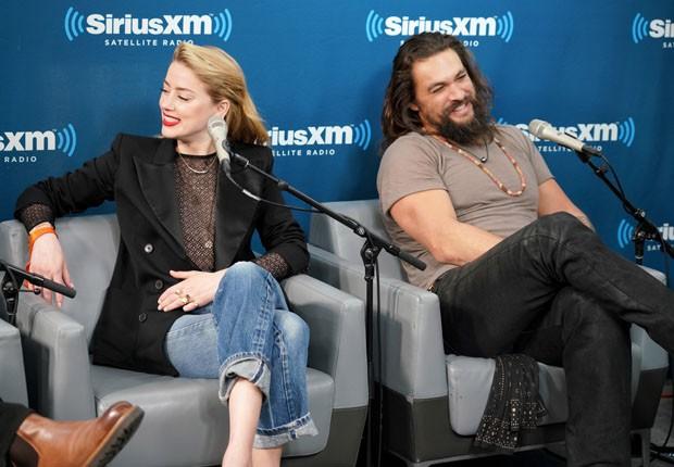 Amber Heard e Jason Momoa (Foto: Getty Images)