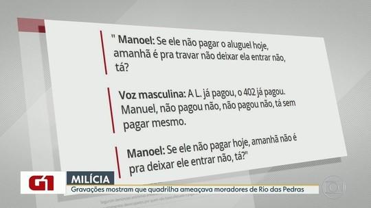 Escutas revelam ameaças de miliciano a moradores de comunidade no Rio