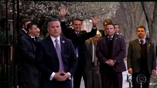 Bolsonaro visita a CIA antes da agenda de hoje em Washington