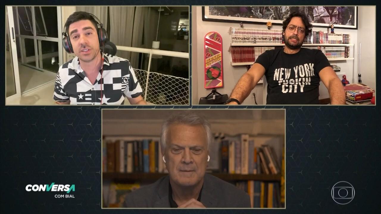 Pedro Bial entrevista os dois 'Bolsonaros' Marcelo Adnet e Fernando Caruso