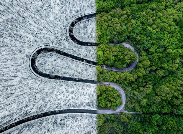 Concurso internacional de fotografia com drone (Foto: Ovi D. Pop/Reprodução)