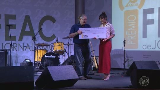 EPTV e G1 vencem categorias do 20º Prêmio Fundação Feac de Jornalismo