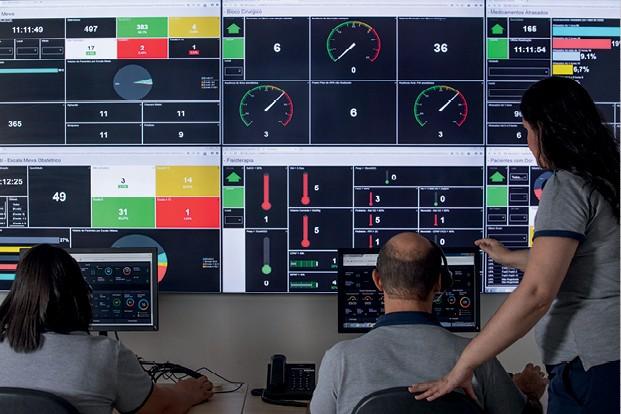 Empresa do Ano: Hospital Albert Einstein - Central de Monitoramento Assistencial?Mais de 90 indicadores são acompanhados em tempo real  (Foto: Divulgação)