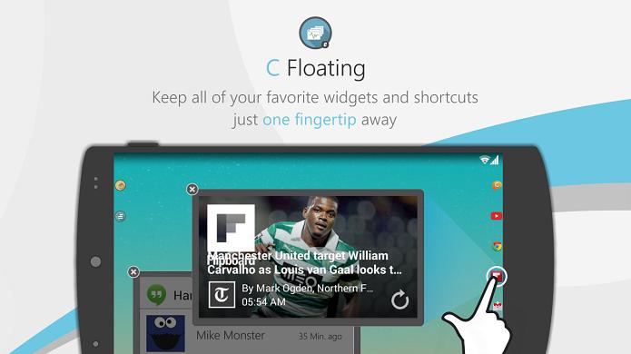 C Floating é um aplicativo gratuito de janelas para o Android (Foto: Divulgação)