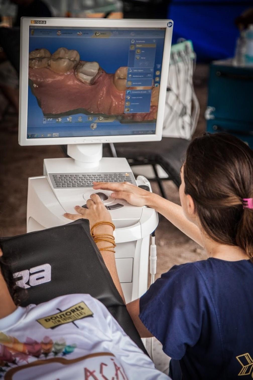 Equipamentos para exames foram levados para aldeia — Foto: Doutores Sem Fronteiras/Divulgação