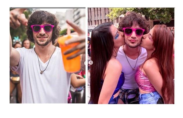 Fiuk aproveitou o carnaval de São Paulo em cima de um trio elétrico e cercado de amigas (Foto: Reprodução)