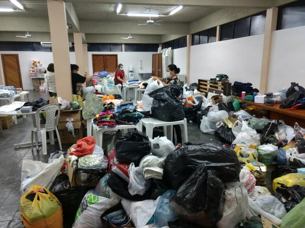 Arquidiocese de Natal arrecada mantimentos para ajudar moradores de Touros atingidos por inundações (Foto: Arquidiocese de Natal)