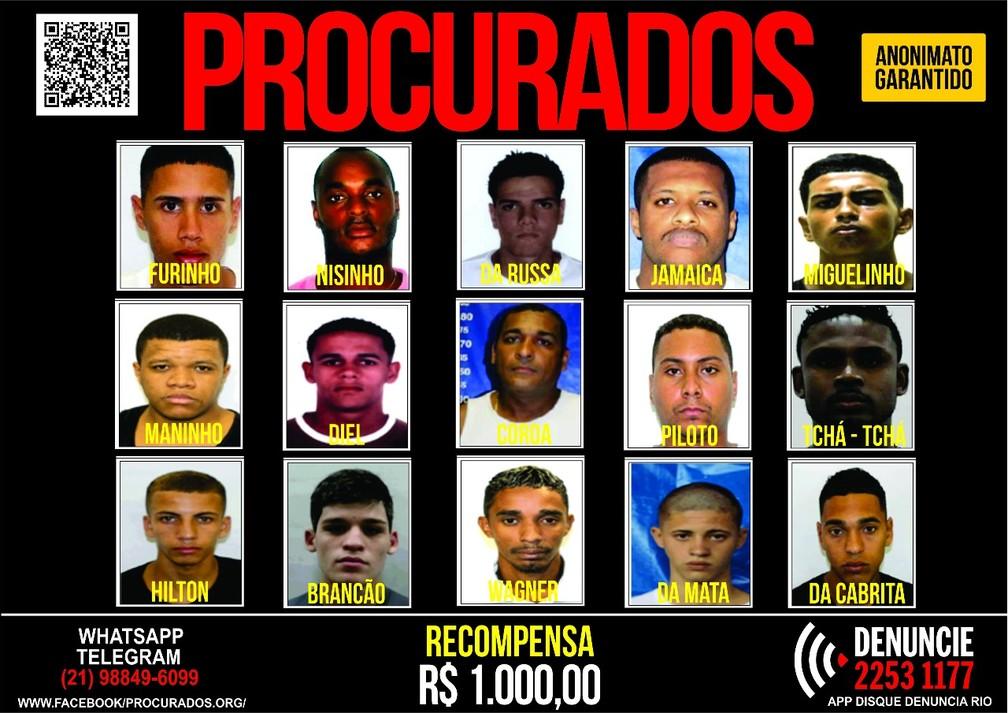 Portal dos Procurados oferece recompensa por informações que possam levar à prisão de criminsos (Foto: Disque Denúncia)