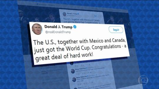 Donald Trump comemora vitória da candidatura americana para a Copa do Mundo de 2026