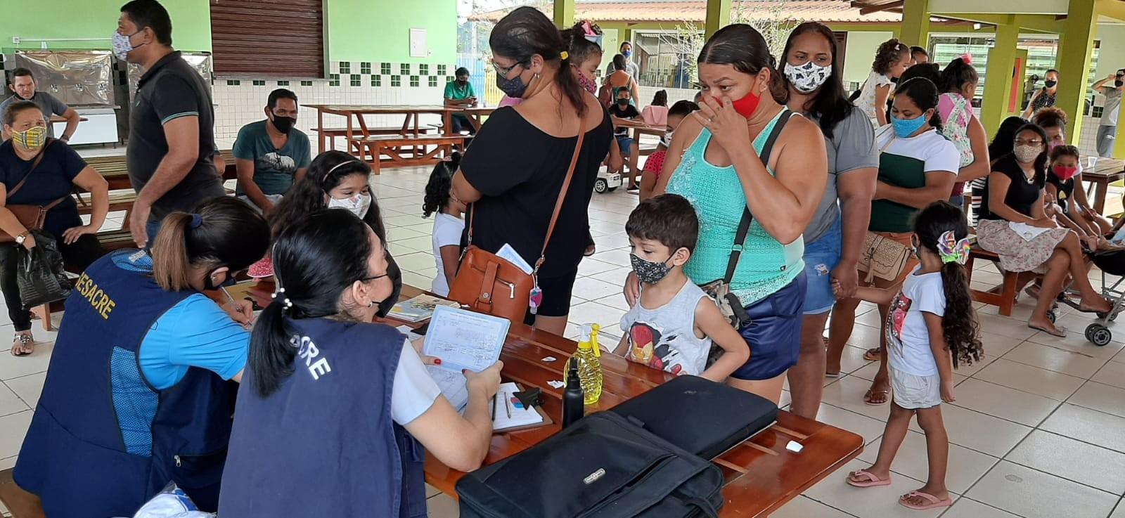 Em Rio Branco, campanha 'Vacina do Bem' imunizou mais de 1,7 mil pessoas na Cidade do Povo