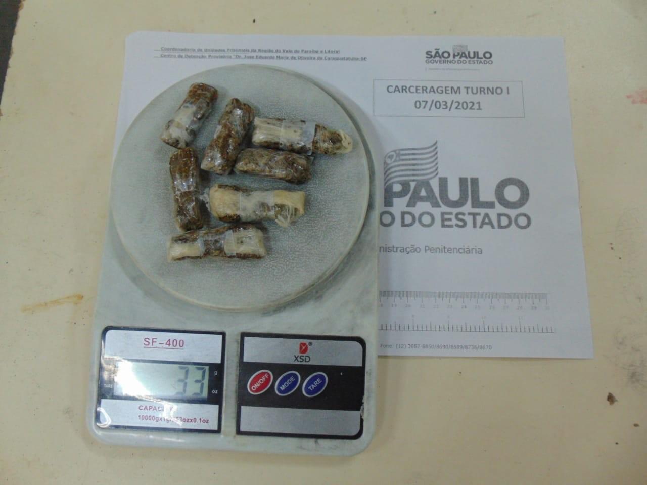 Agentes encontram drogas em embalagem de creme no CDP de Caraguatatuba