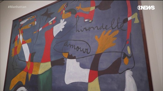 Pedro Andrade confere exposição do espanhol Miró no MoMA