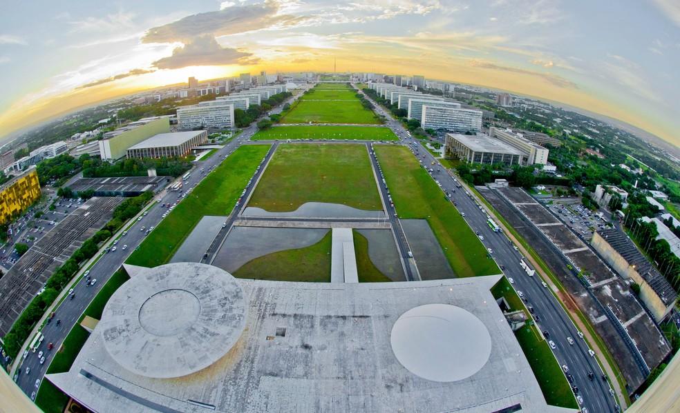 Esplanada dos Ministérios vista de cima, em Brasília (Foto: Ana Volpe/ Senado)