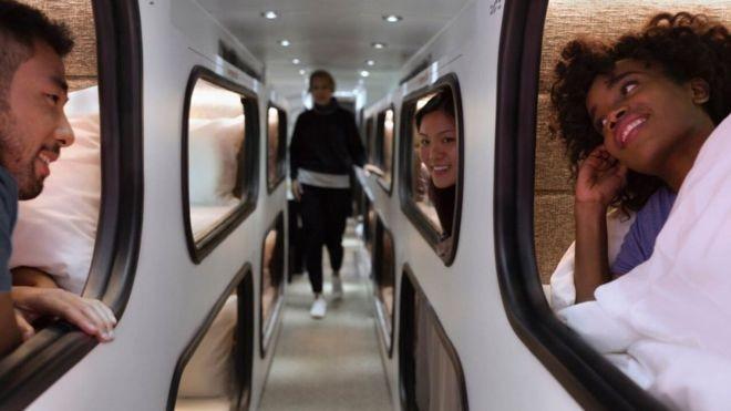 O 'hotel hispter sobre rodas' que pode substituir avião em trajetos médios nos EUA
