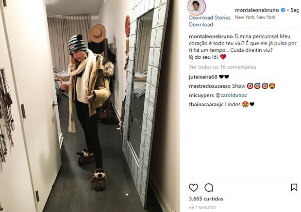 Bruno Montaleone faz post para Sasha (Foto: Reprodução/Instagram)