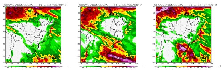 tempo-mapa-clima-brasil (Foto: Rural Clima)