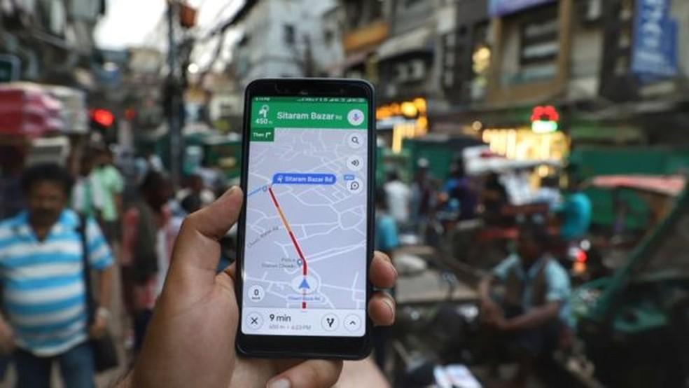 A nova atualização do Google Maps está disponível para iOS e Android desde 6 de fevereiro — Foto: Getty Images via BBC
