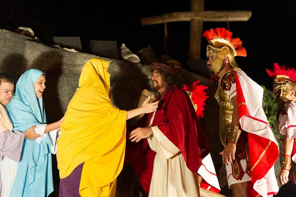 A Paixão de Cristo do Recife 2018 aconteceria no Marco Zero do Recife, entre 30 de março e 1º de abril (Foto: Divulgação/Welligton Dantas)