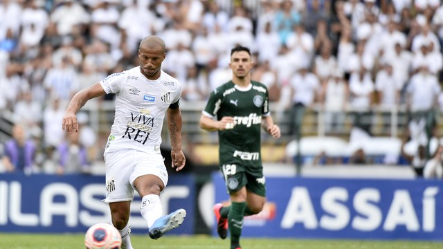 Sánchez, do Santos, no clássico contra o Palmeiras